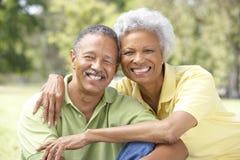 Verticale des couples aînés en stationnement Images stock