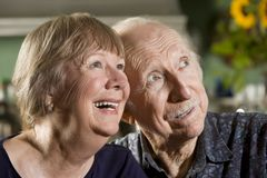Verticale des couples aînés Photos libres de droits