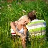 Verticale des couples d'amour Images libres de droits
