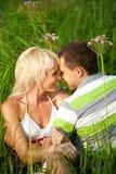 Verticale des couples d'amour Photographie stock libre de droits