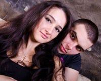 Verticale des couples d'amour Images stock