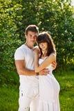 Verticale des couples d'amour Image stock