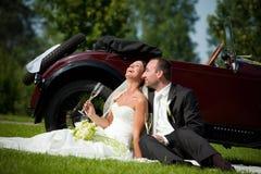 Verticale des couples de mariage Photographie stock libre de droits