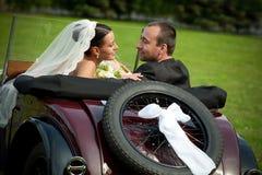 Verticale des couples de mariage Images libres de droits