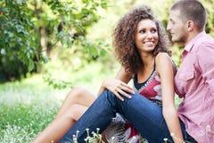 Verticale des couples heureux Images libres de droits