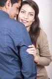 Verticale des couples heureux Image libre de droits
