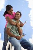Verticale des couples heureux Images stock
