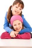 Verticale des enfants de sourire Images stock