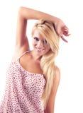 Verticale des femmes blondes merveilleuses Photo libre de droits