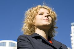 Verticale des femmes d'affaires Photo libre de droits