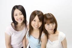 Verticale des femmes japonaises photo libre de droits