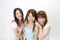 Verticale des femmes japonaises image libre de droits