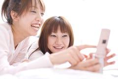 Verticale des femmes japonaises Photographie stock libre de droits