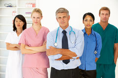 Verticale des professionnels médicaux Photographie stock