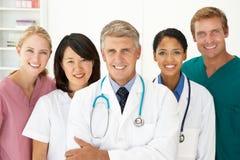Verticale des professionnels médicaux Images stock