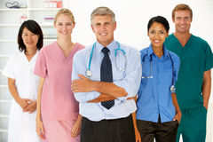 Verticale des professionnels médicaux Photos libres de droits