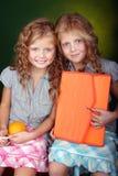 Verticale des soeurs rouges de cheveu image libre de droits