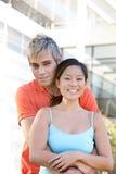 Verticale des étudiants heureux Photo libre de droits