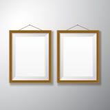 Verticale di legno delle cornici fotografia stock libera da diritti