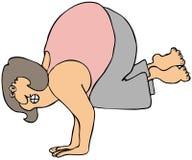 Verticale di yoga Immagini Stock