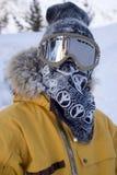 Verticale drôle de snowboarder Photos libres de droits