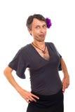 Verticale drôle de travesti photographie stock libre de droits
