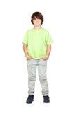 Verticale drôle de garçon couvert de taches de rousseur Images libres de droits