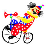 Verticale du clown Photographie stock libre de droits