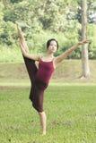 Verticale du danseur de ballet asiatique extérieur Image stock