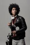 Verticale du DJ de musique Photographie stock libre de droits