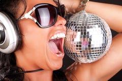 Verticale du DJ sexy photo stock
