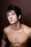 Verticale du modèle mâle photo libre de droits