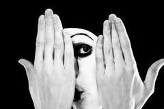 Verticale du pantomime Photographie stock libre de droits