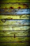 Verticale en bois verte de mur Photographie stock