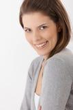 Verticale femelle attrayante heureuse Images libres de droits