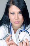 Verticale femelle de docteur   Photographie stock