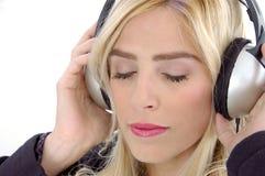 verticale femelle de musique ajustée Image libre de droits