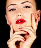 Verticale femelle sexy Photographie stock libre de droits