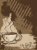 Verticale grungy koffieachtergrond Royalty-vrije Stock Afbeeldingen