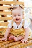 Verticale heureuse d'enfant Photographie stock