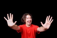 Verticale heureuse d'homme Photo libre de droits