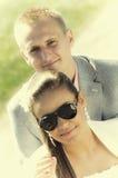 Verticale heureuse de couples Image libre de droits