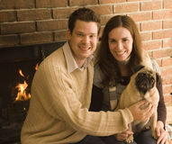 Verticale heureuse de famille images libres de droits