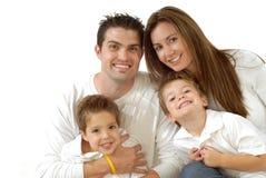 Verticale heureuse de famille Image stock