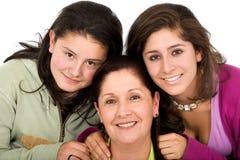 Verticale heureuse de famille Photo libre de droits
