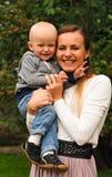 Verticale heureuse de famille Photographie stock libre de droits