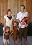 Verticale heureuse de famille Photo stock