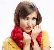 Verticale heureuse de sourire de femme de jeunes Images stock