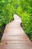 Verticale houten brug Stock Foto's