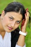 Verticale indienne de fille image libre de droits